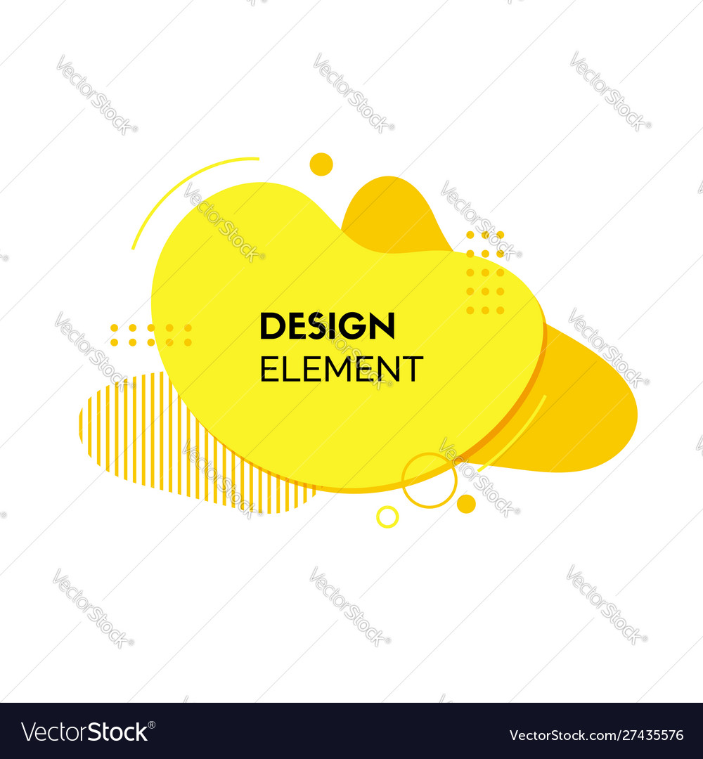Yellow liquid abstract design element