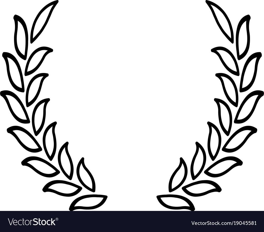 Black laurel wreath - a symbol of the winner