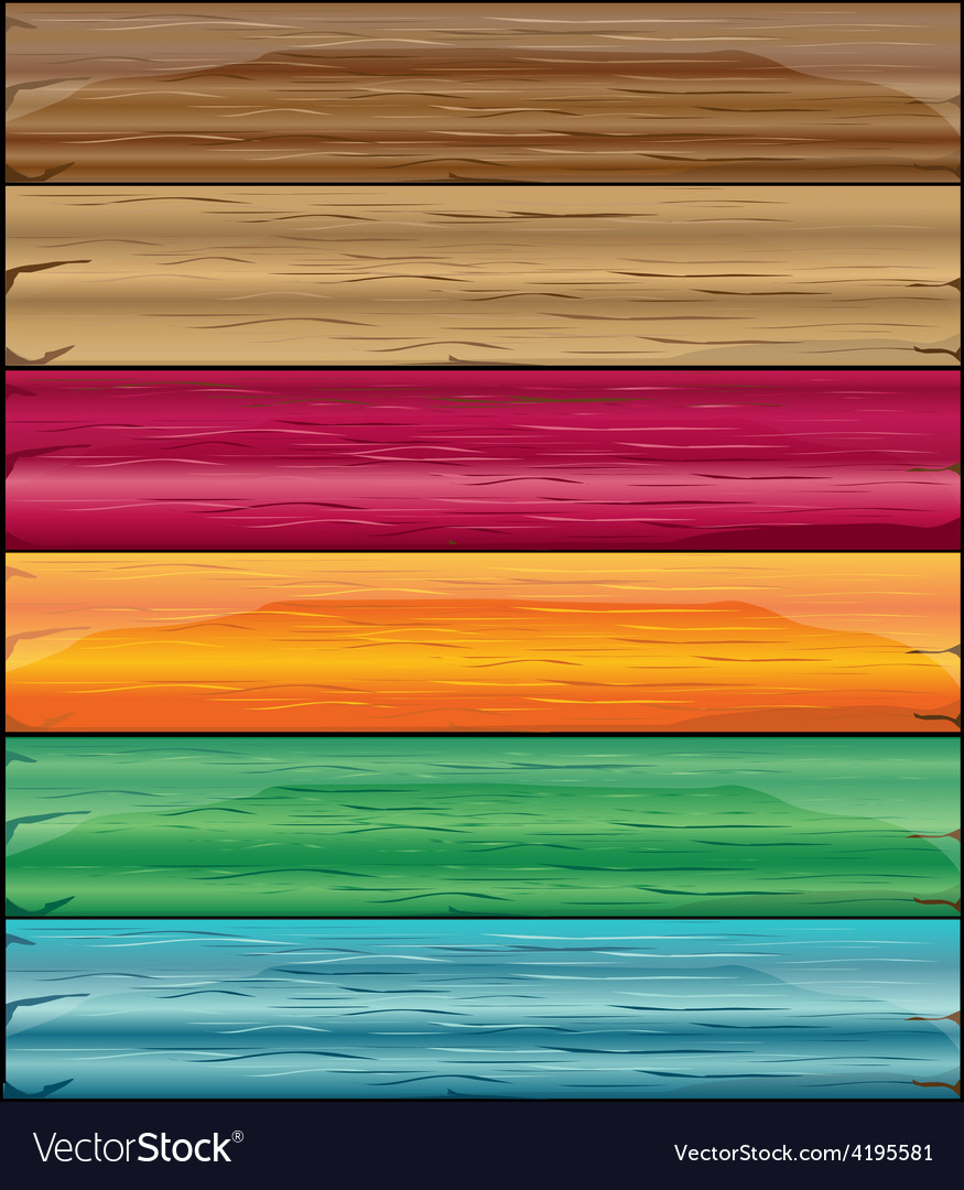 Colorful wooden