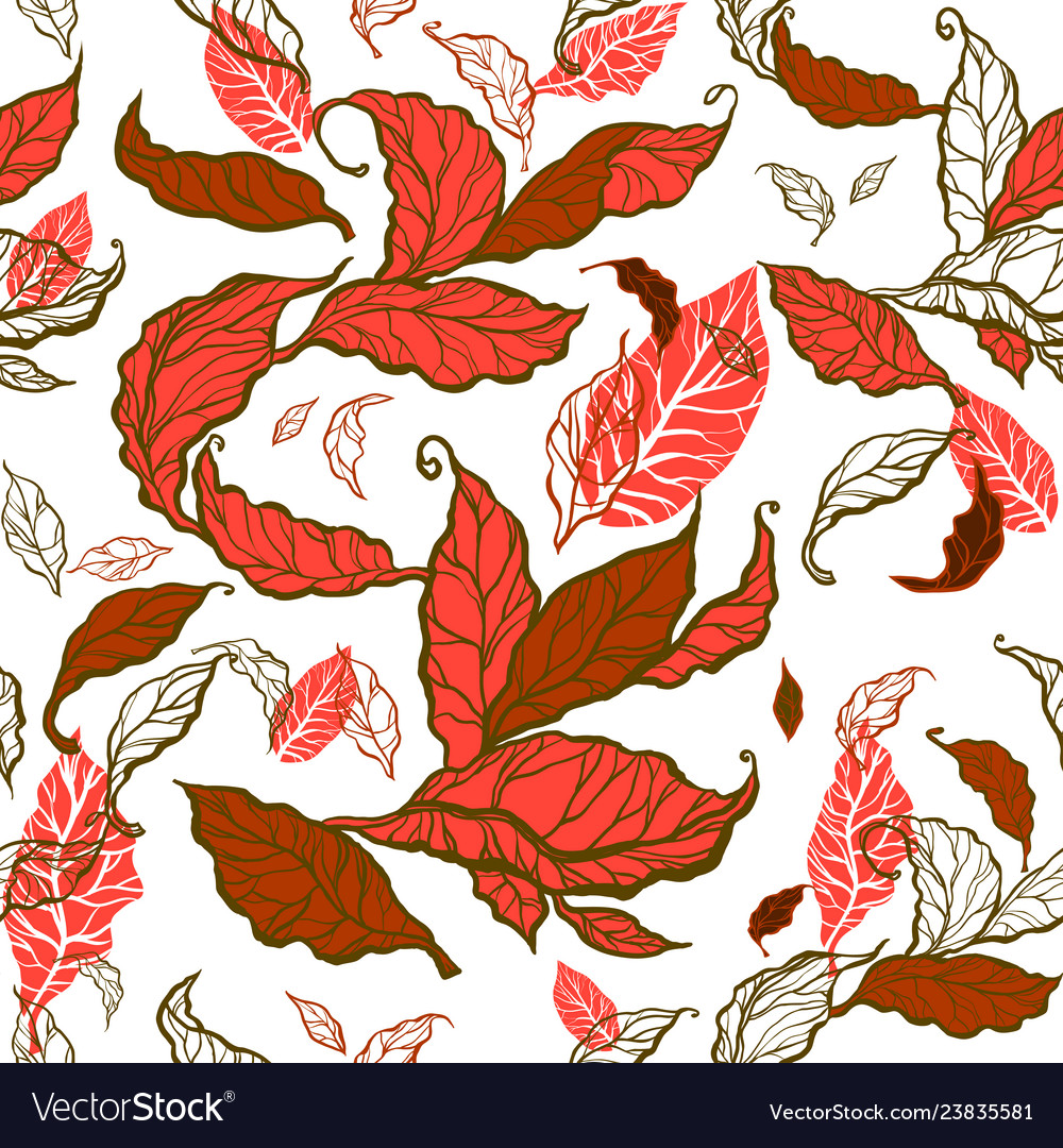 Decorative leaves seamless