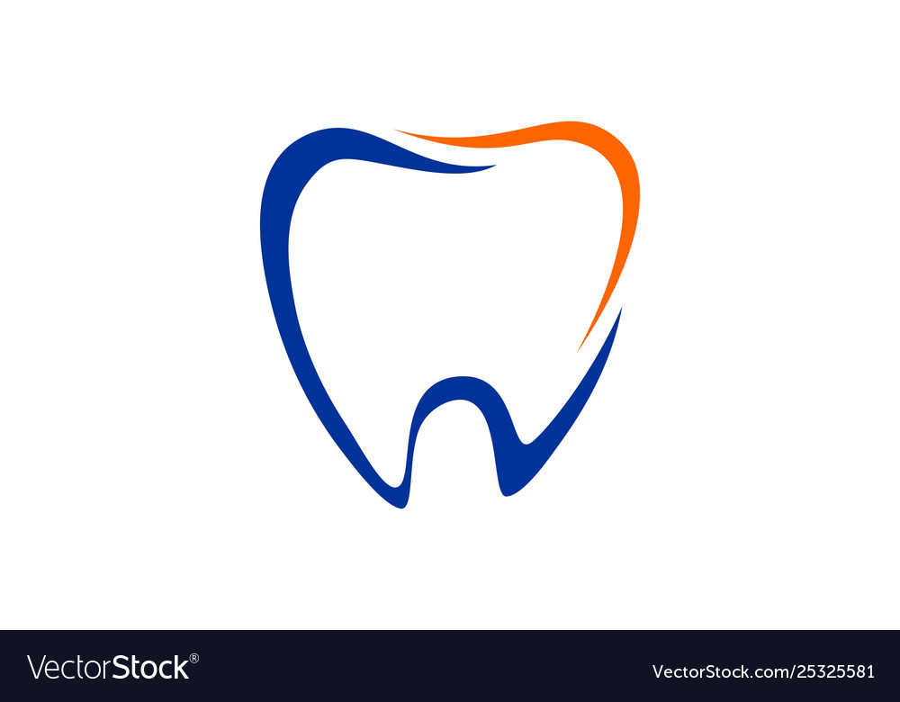 Dental Tooth Dentist Logo Royalty Free Vector Image