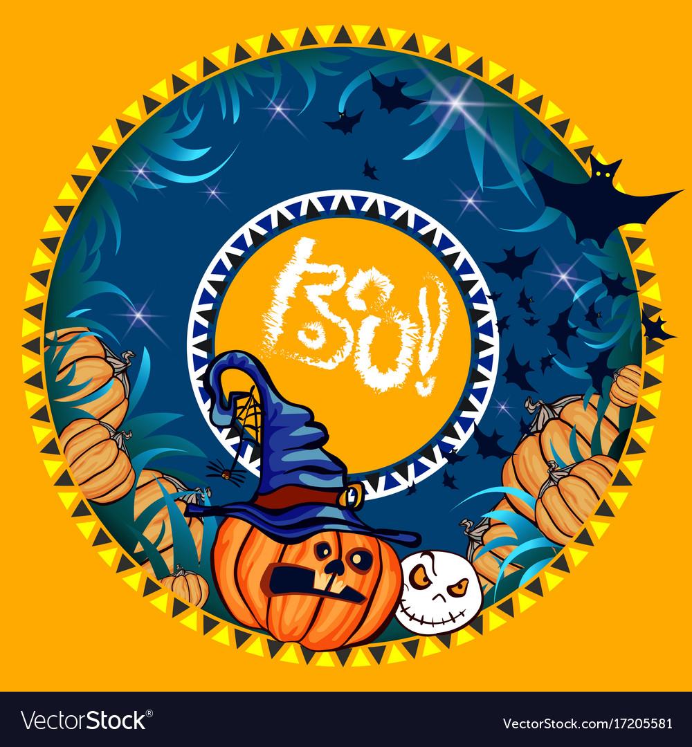 Halloween banner orange