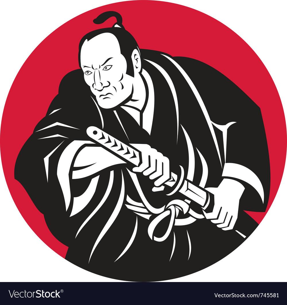 Japanese samurai warri...