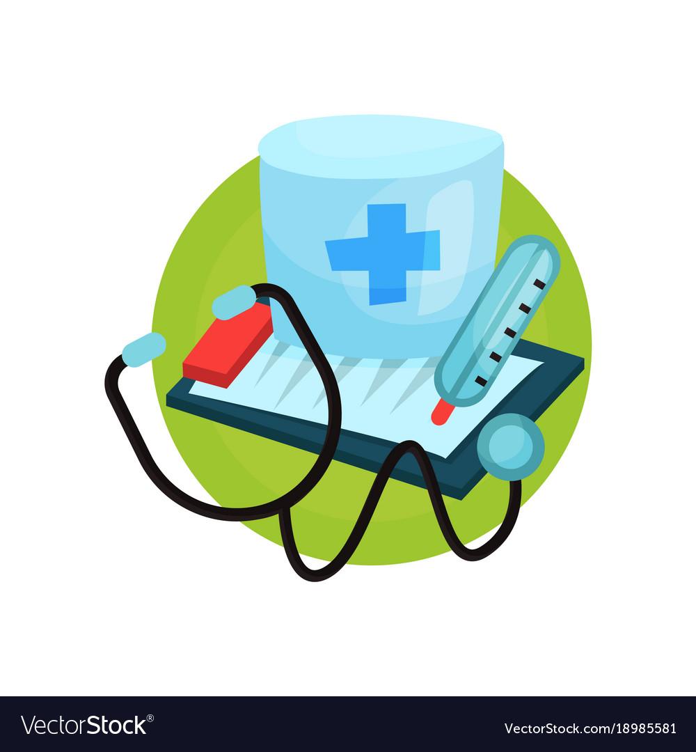 Medicine icon medical equipment cartoon