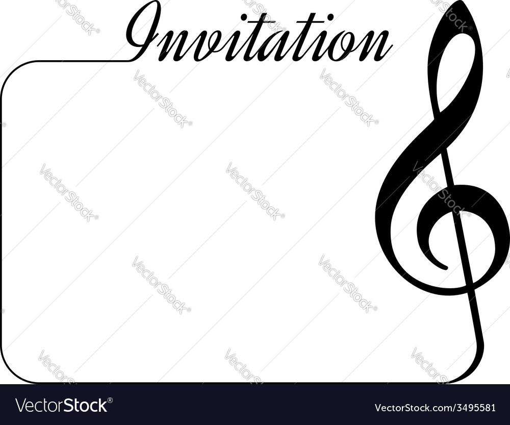 Music invitation