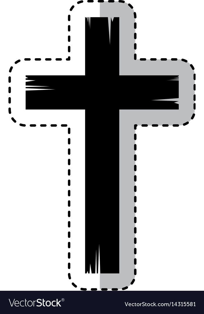Religious cross isolated icon