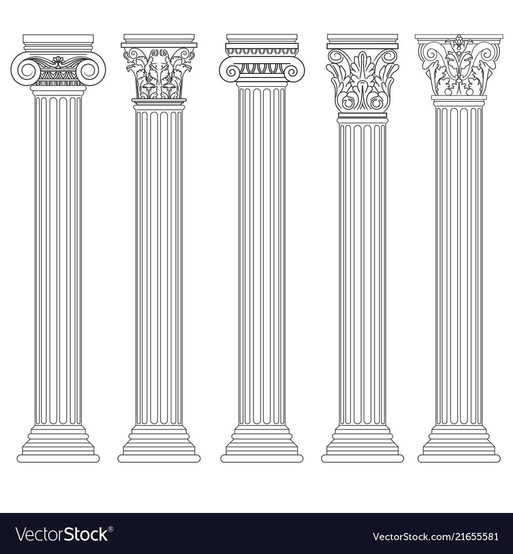 Roman column set greek pillar ancient