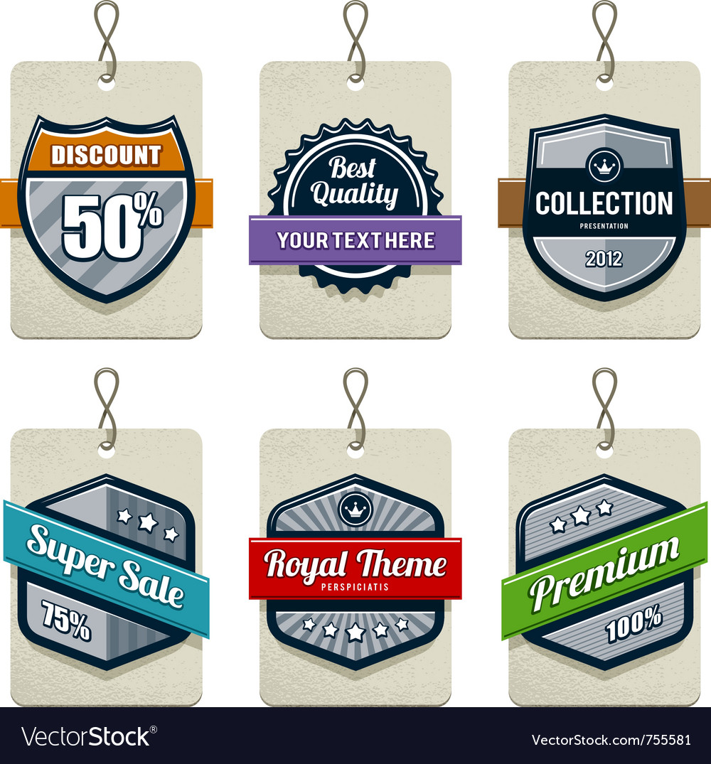 Set retro labels