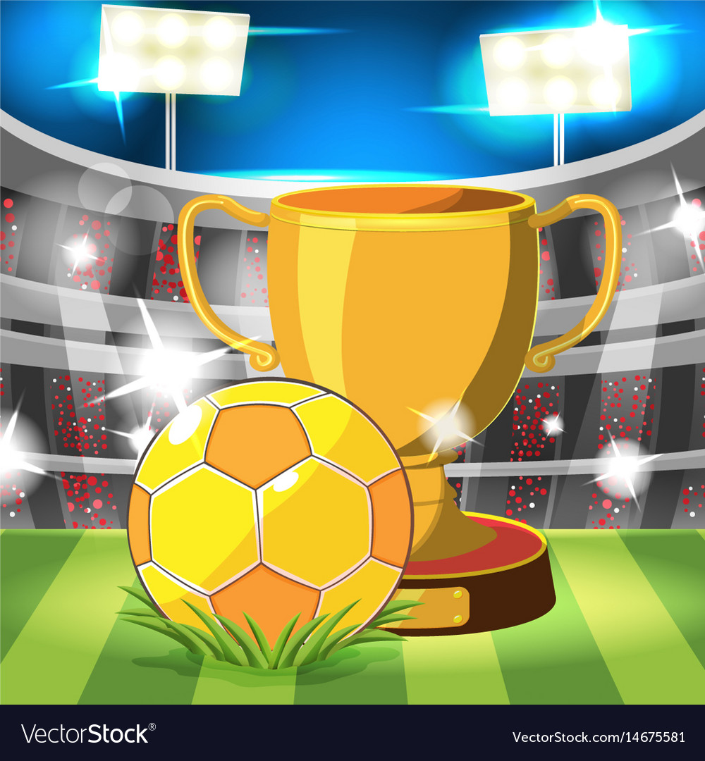Soccer stadium gold ball award
