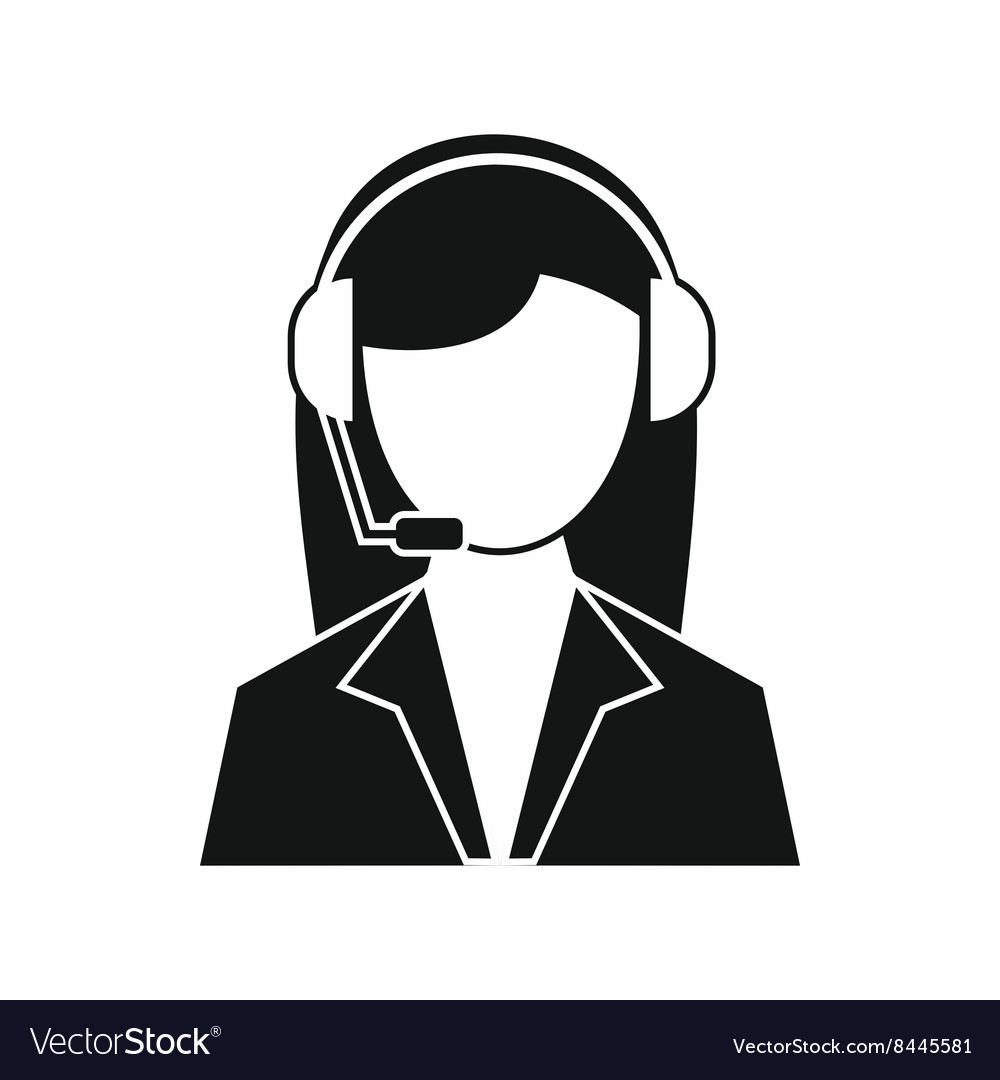 Support Phone Operator In Headset Icon Royalty Free Vector