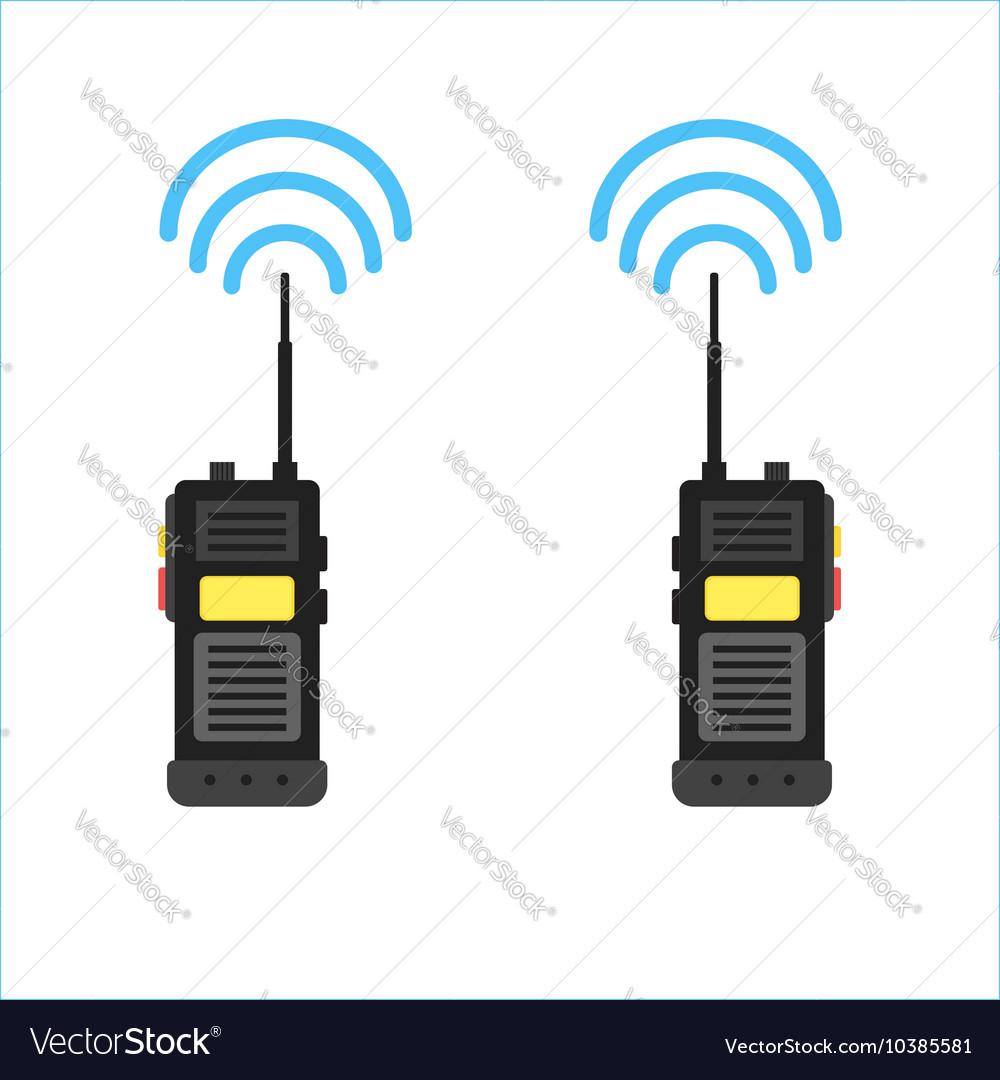 Walkie talkie icon police radio online vector image