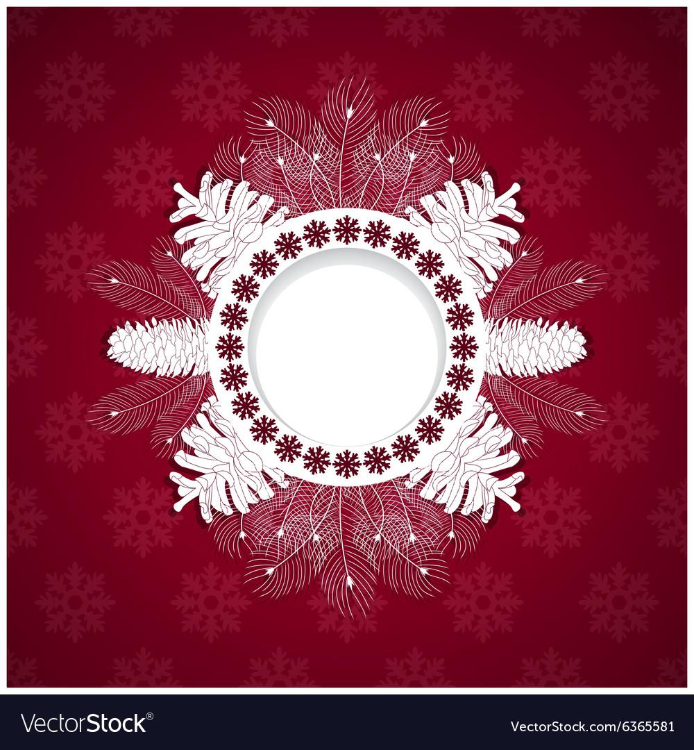 White christmas frame