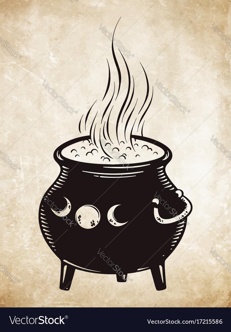 Boiling magic cauldron