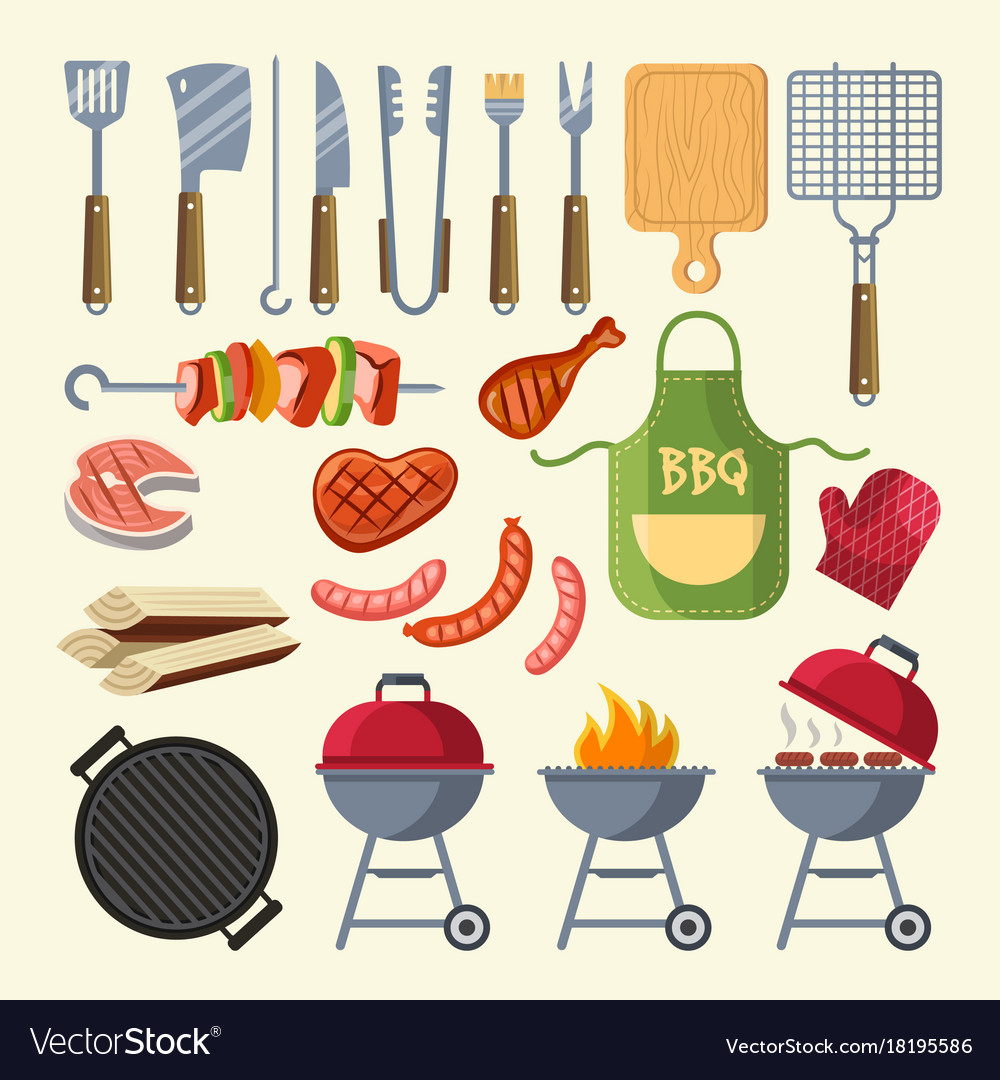 Cartoon of meat sauce grill vector image