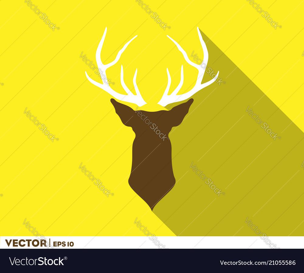 Deer horn head logo