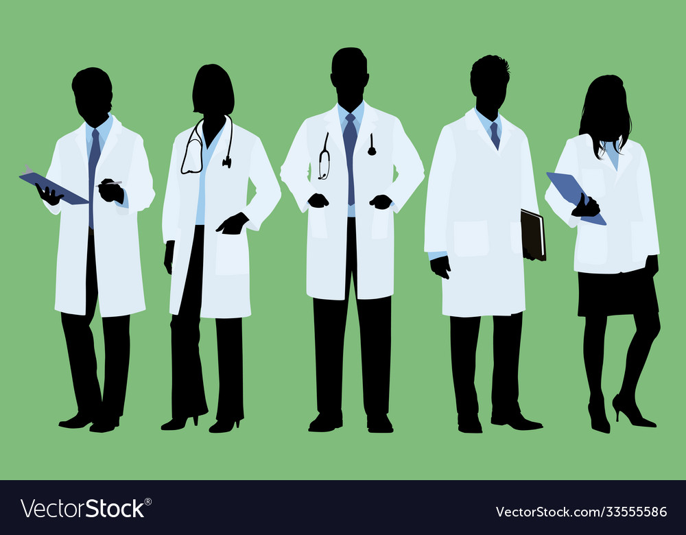 Doctors in lab coats