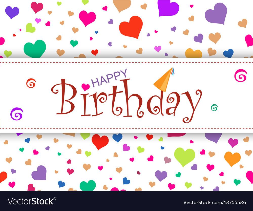 horizontal design template card happy birthday o vector image