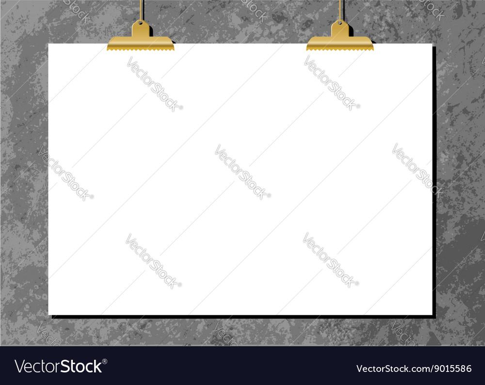 Horizontal Poster Mockup vector image