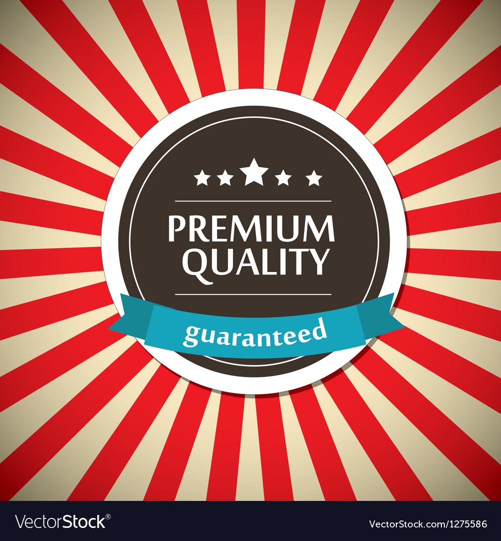 Old round retro vintage label vector image