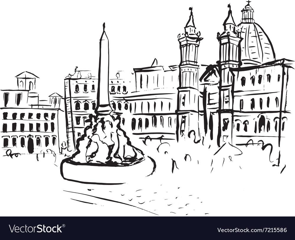 Piazza Navona sketch