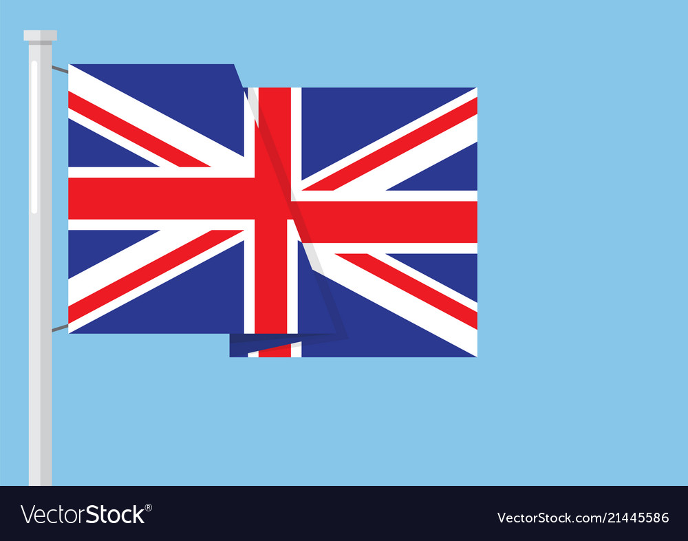 United Kingdom Flag With Copyspace Royalty Free Vector Image