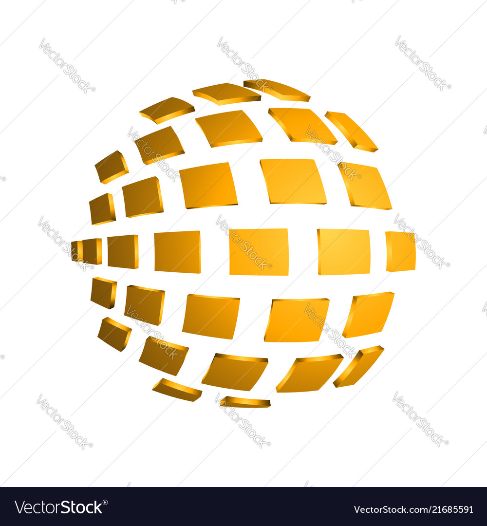 3d square abstract sphere modern 3d effect