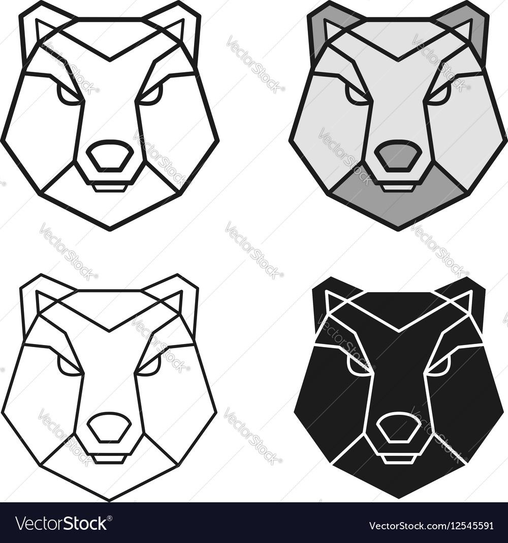 Bear geometric head set