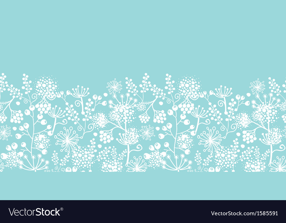 Blue and white lace garden plants horizontal vector image