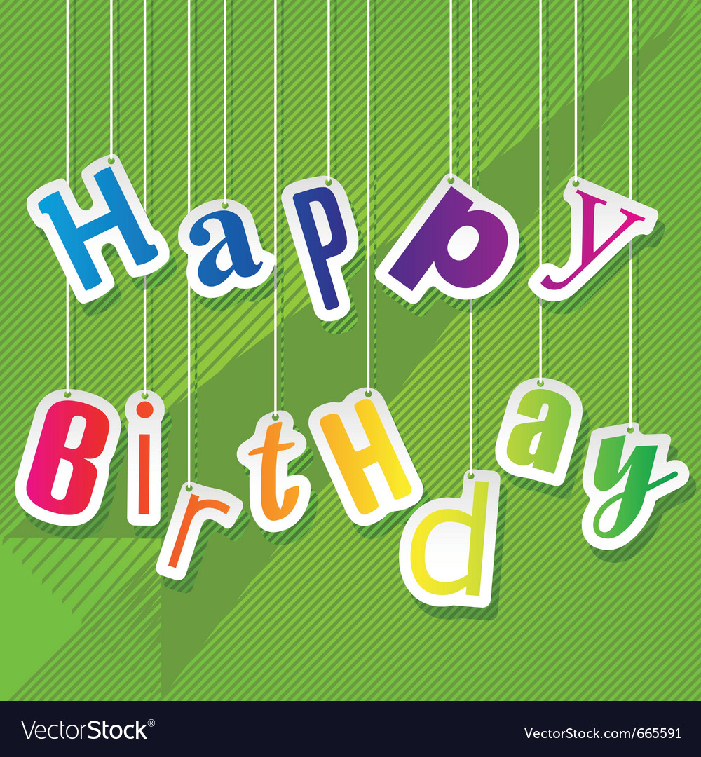 For happy birthday card