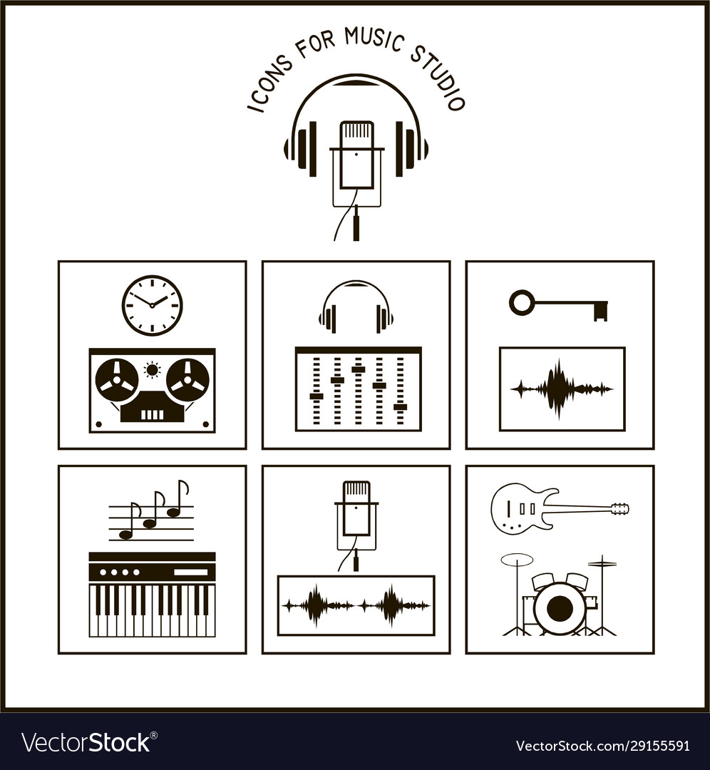 Icons for music studio cut files