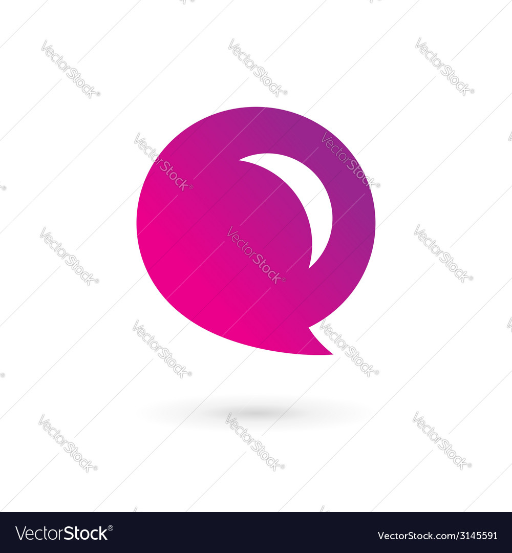 Letter E speech bubble logo icon design template Vector Image