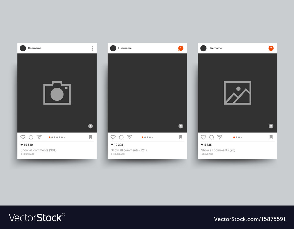 Social network photo frame isolated template