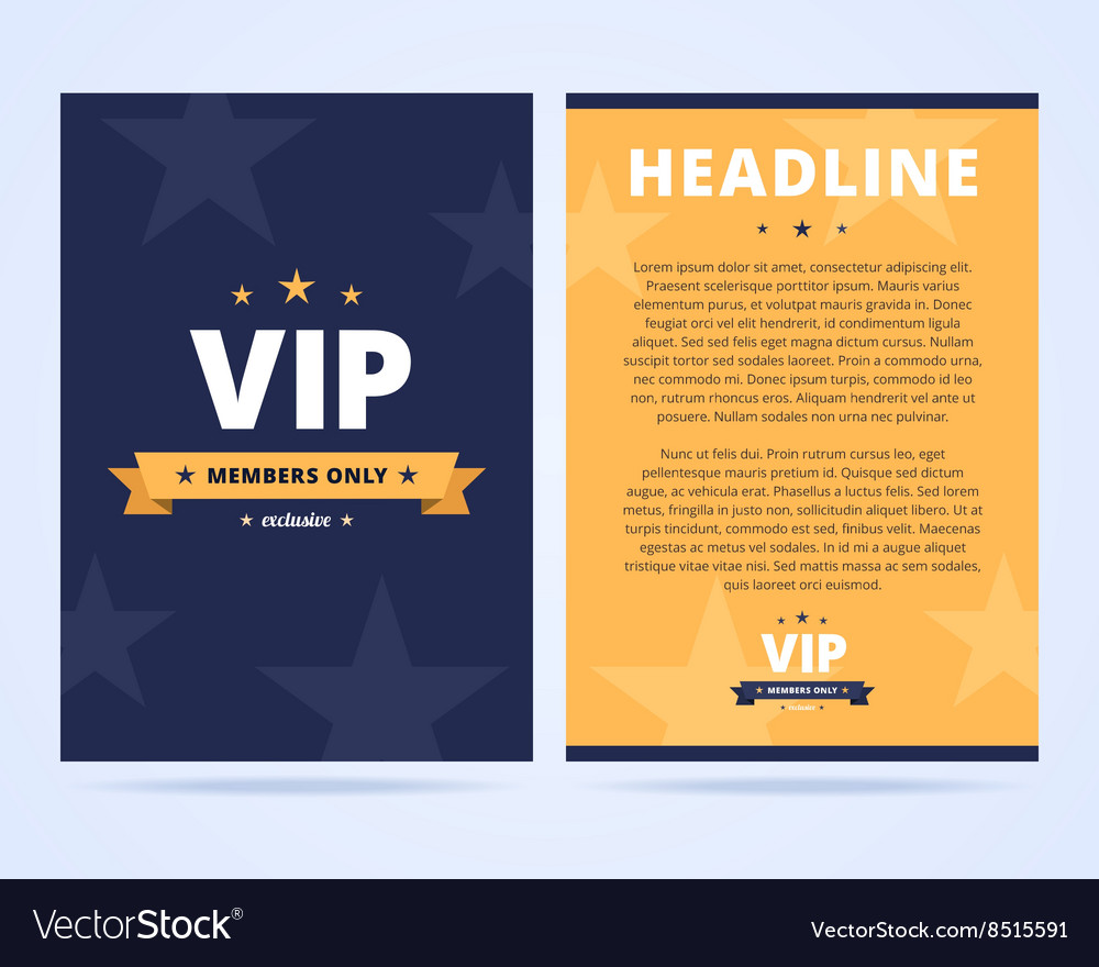 VIP club flyer layout vector image