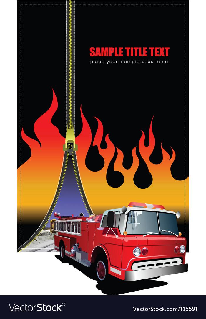 Zipper fire background vector image