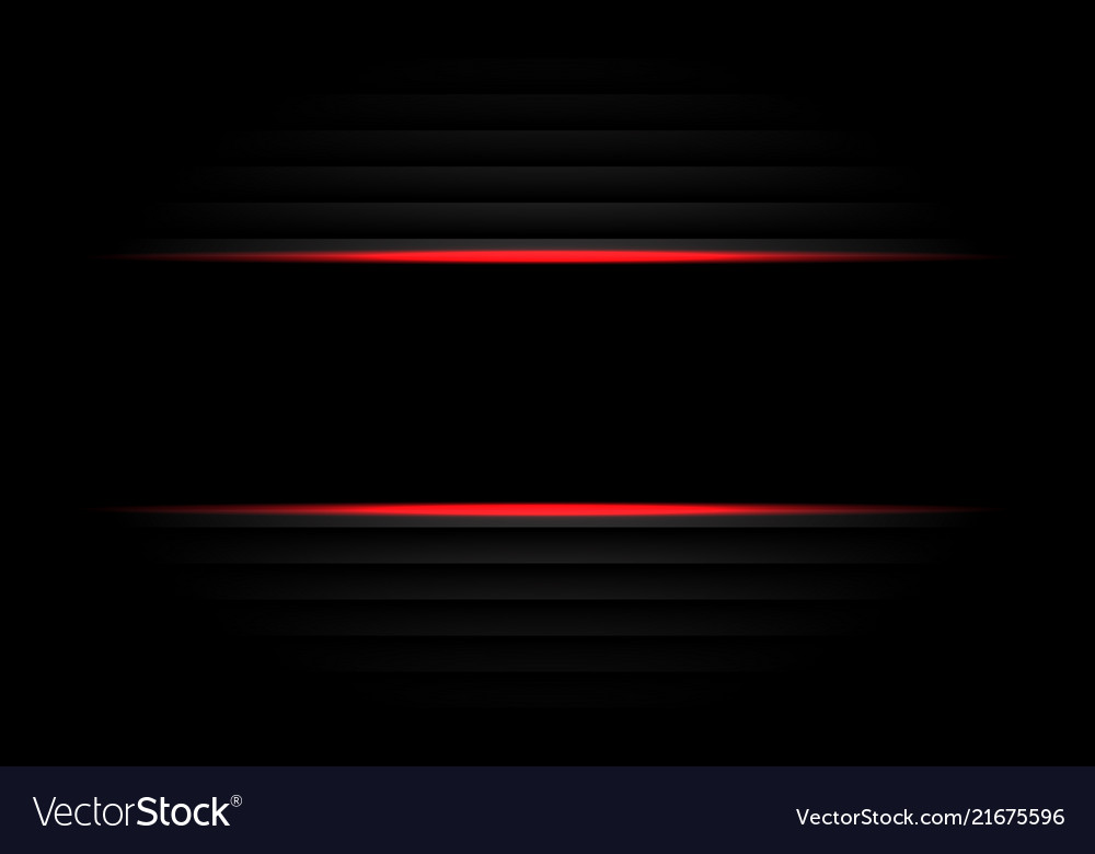Abstract black banner red light design modern