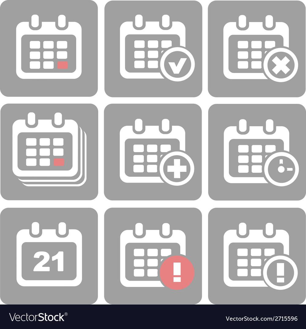 Calendar Icons event add delete progress