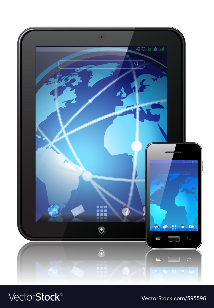 Digital tablet vector image