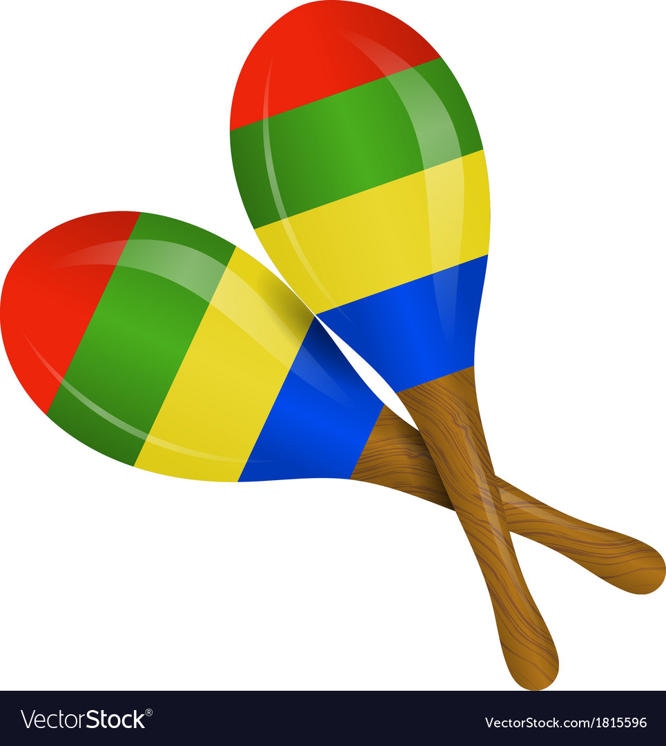 image of maracas on a white background royalty free vector