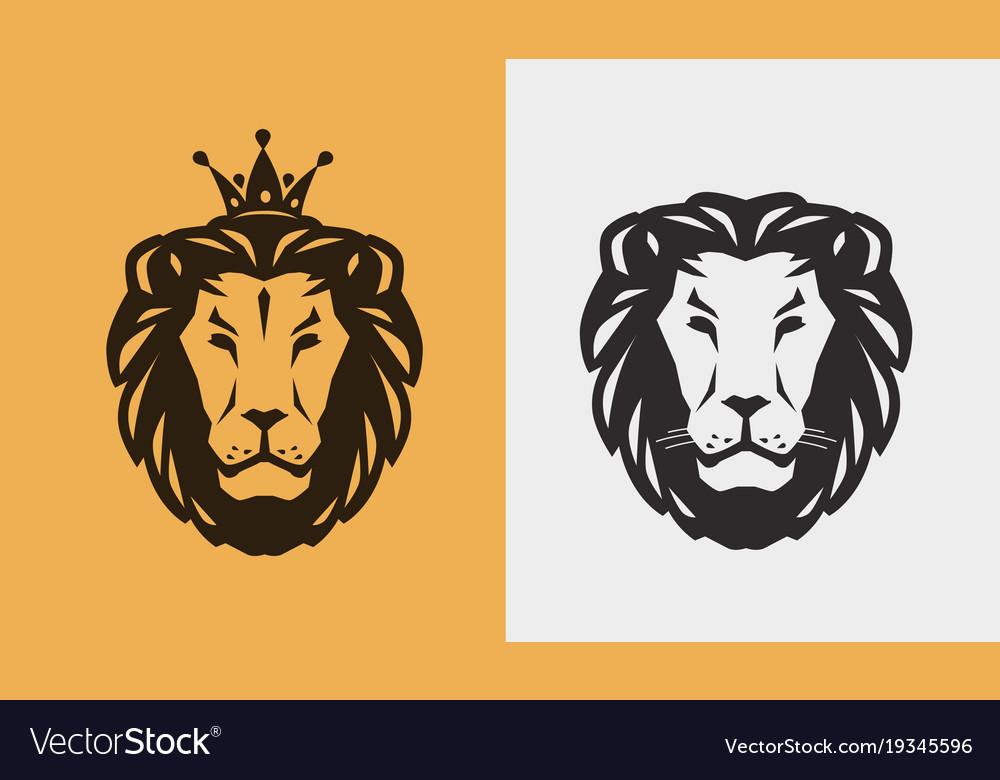 Lion logo or emblem animal wildlife icon vector image