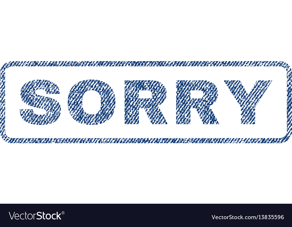Sorry textile stamp