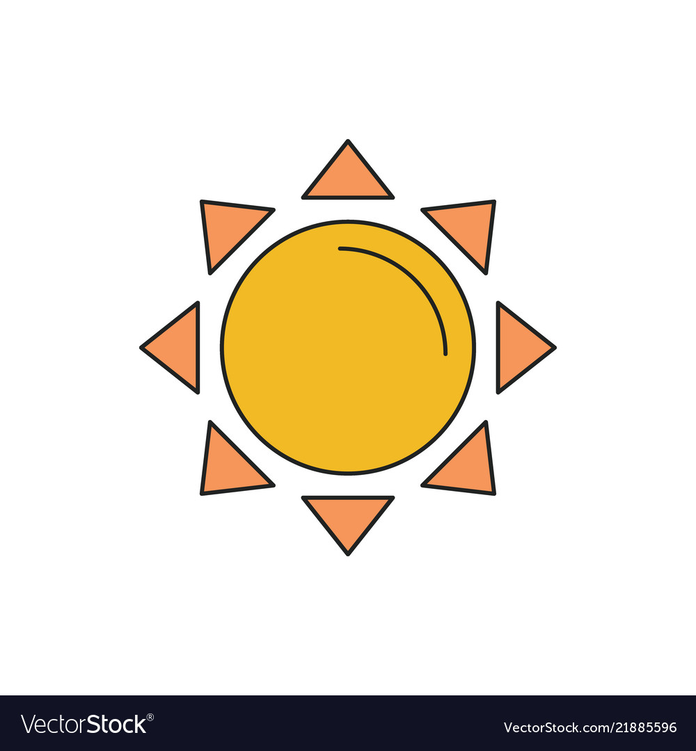Sun icon cartoon style