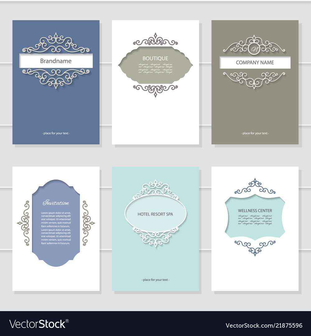 Templates set brochures cards banners