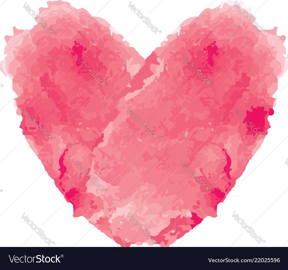 Watercolor love shape
