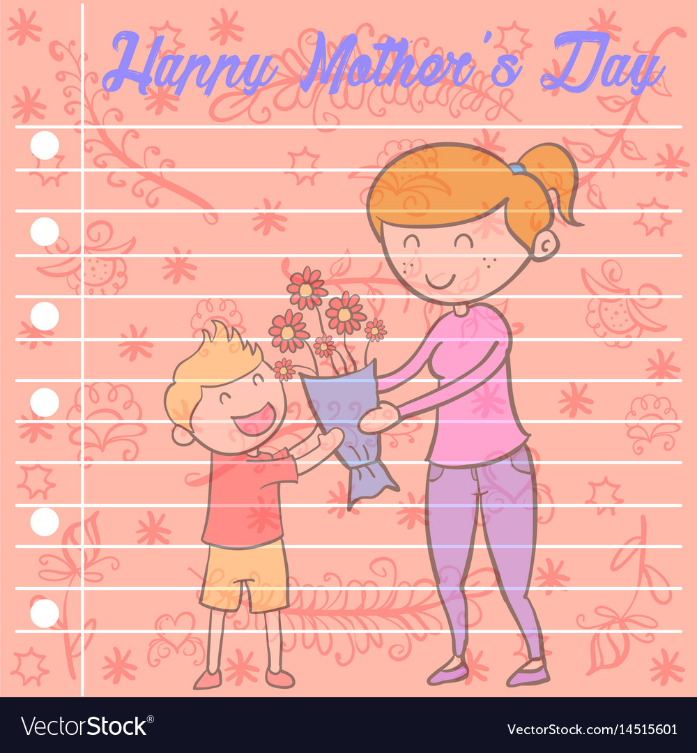 Collection of mother day greeting card