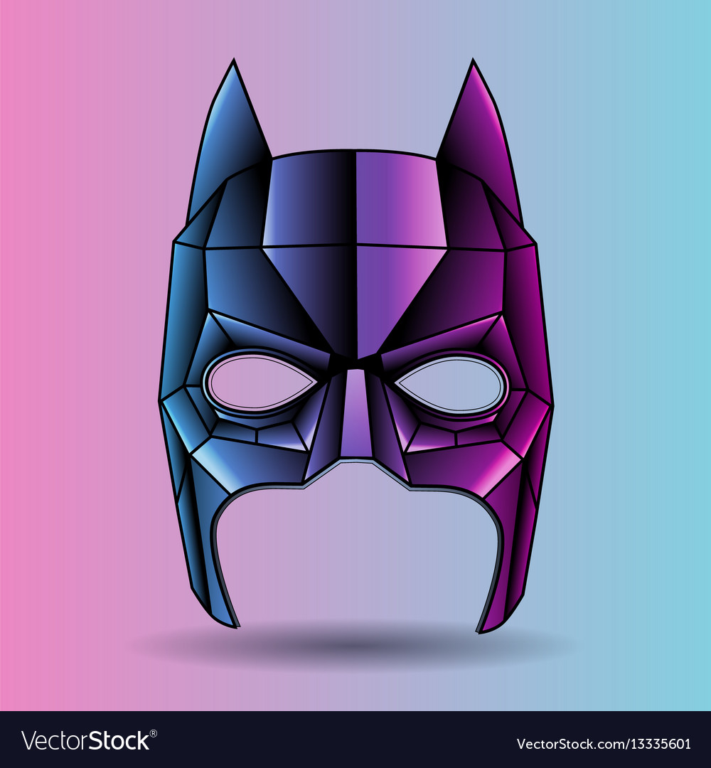 Colored mask superhero graphic triangles vector image