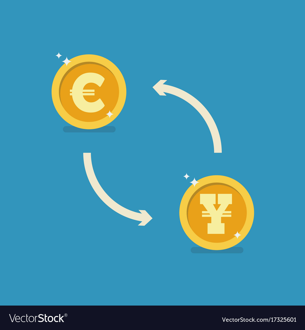 Euro and yen currency exchange