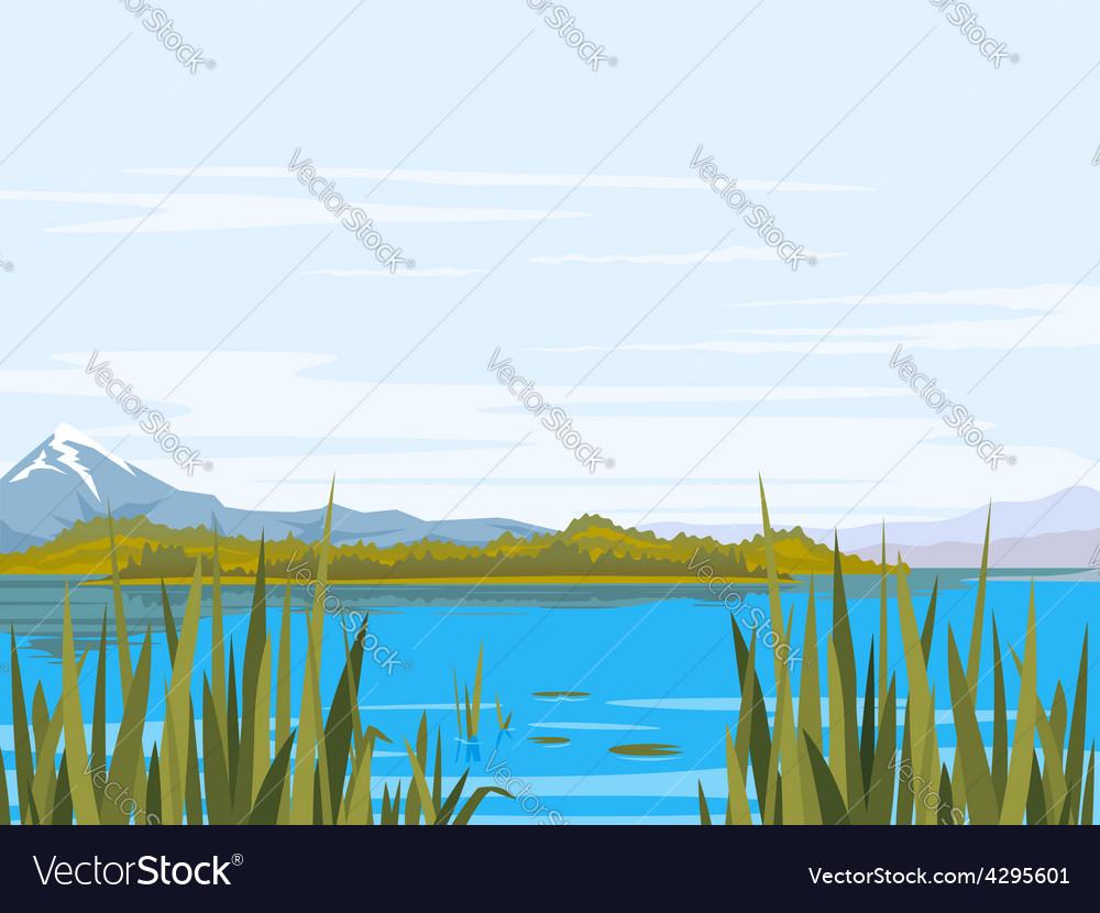 Lake Landscape vector image
