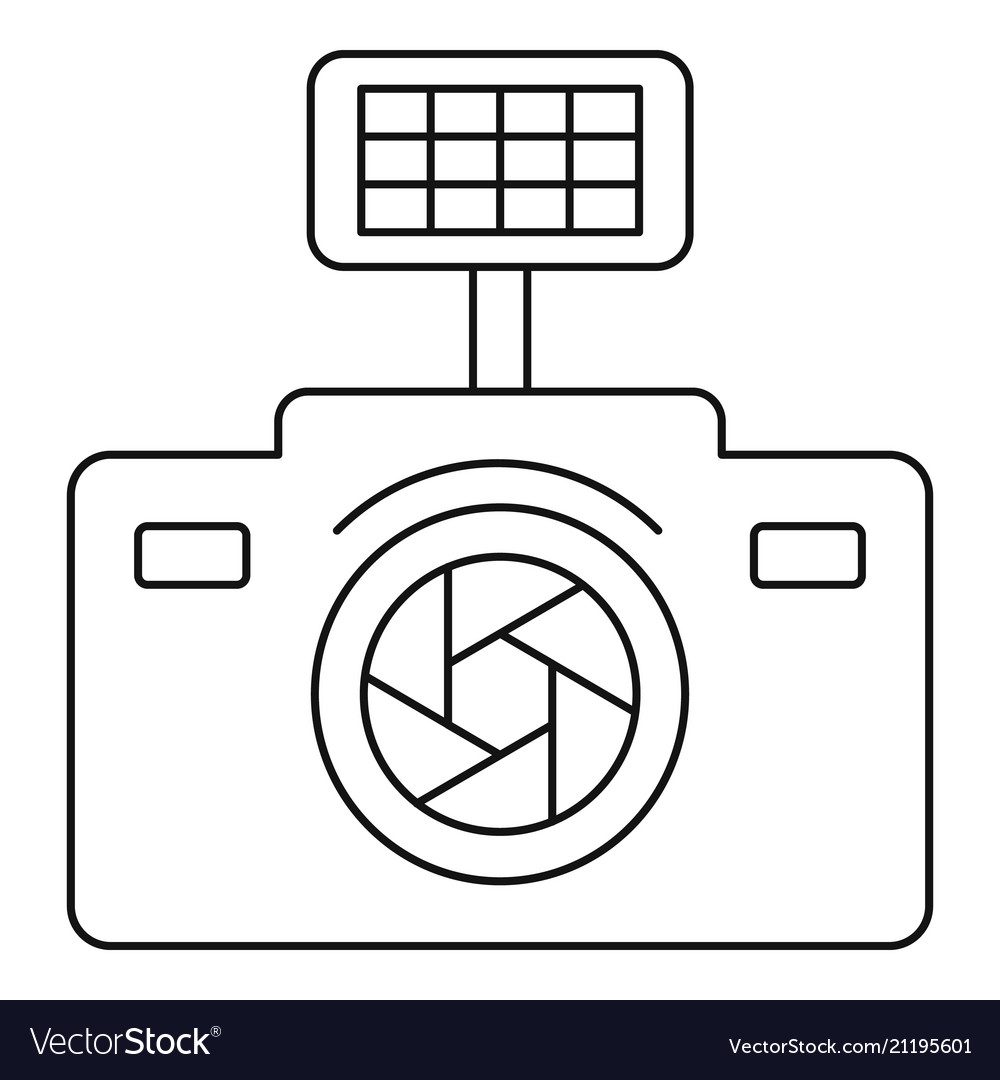 Photo camera icon outline style