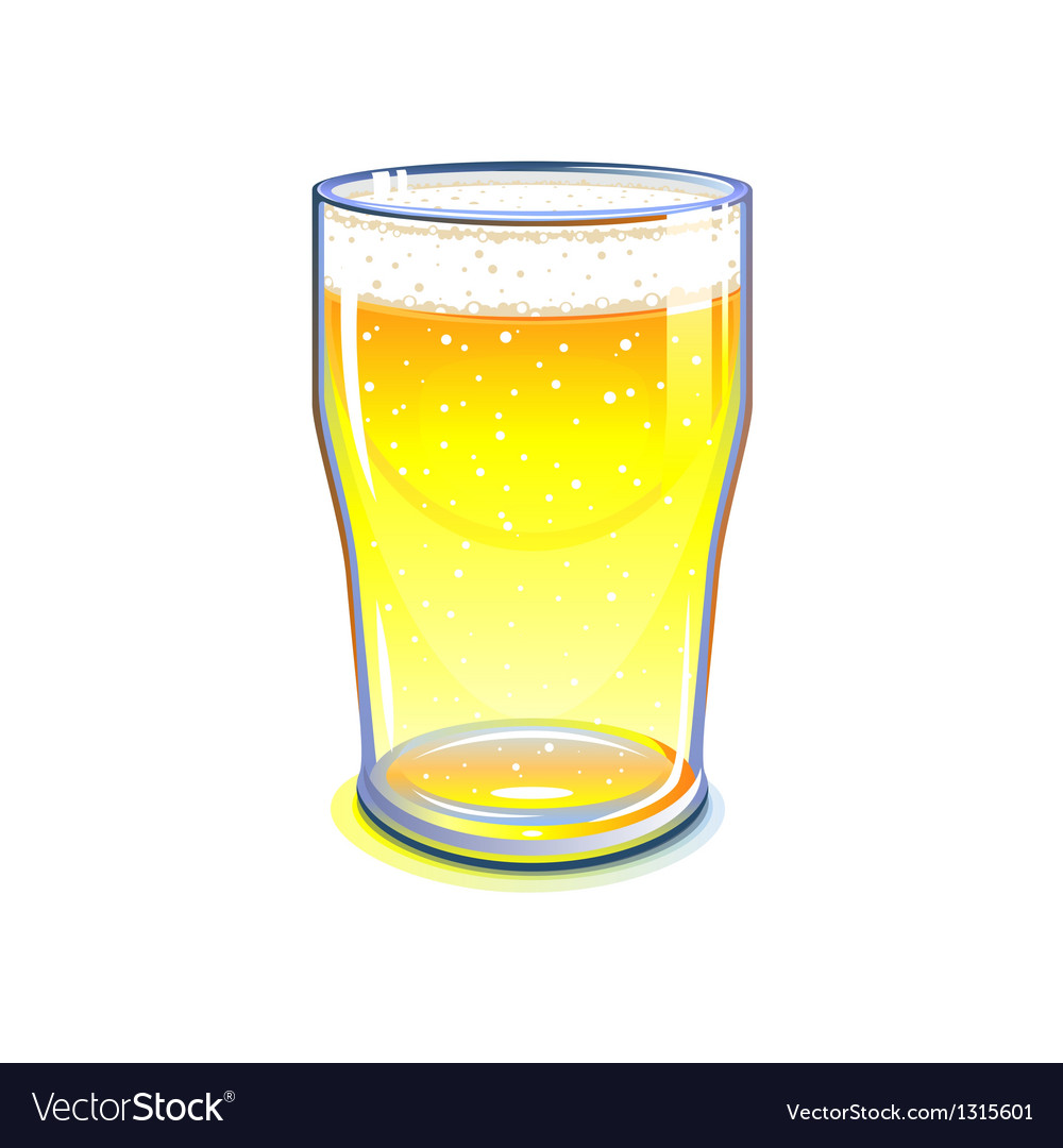 Pint glass vector image