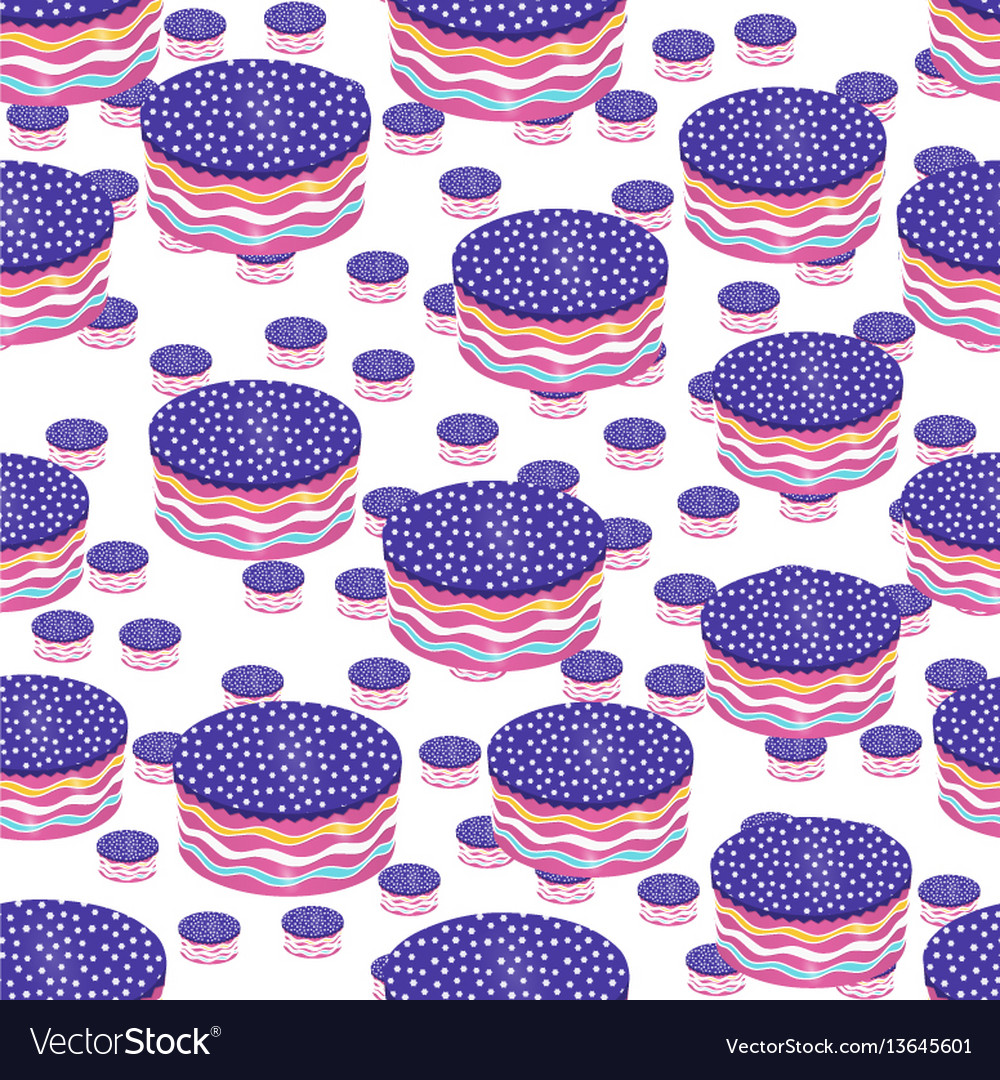 Round cake seamless pattern